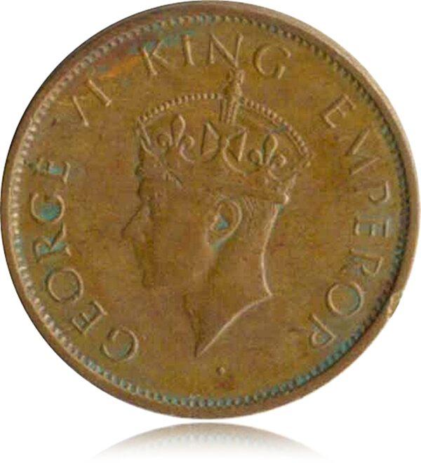 1940 1/4 Quarter Anna British India King George VI O