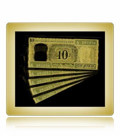D-24 10 Rupee UNC Note Dr. Manmohan Singh
