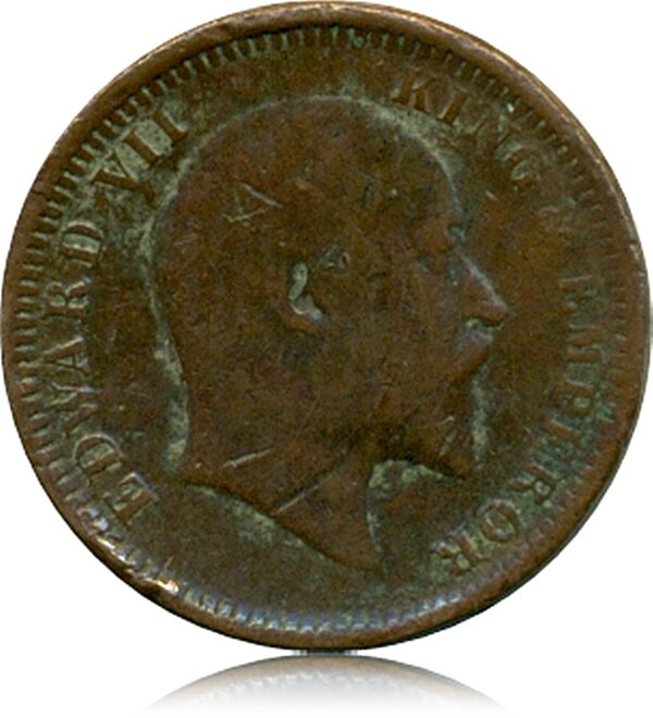 Edward VII One Quarter Anna 1903 Calcutta Mint O