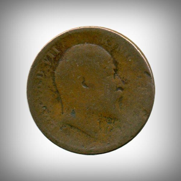 Edward VII One Quarter Anna 1906 Calcutta Mint O