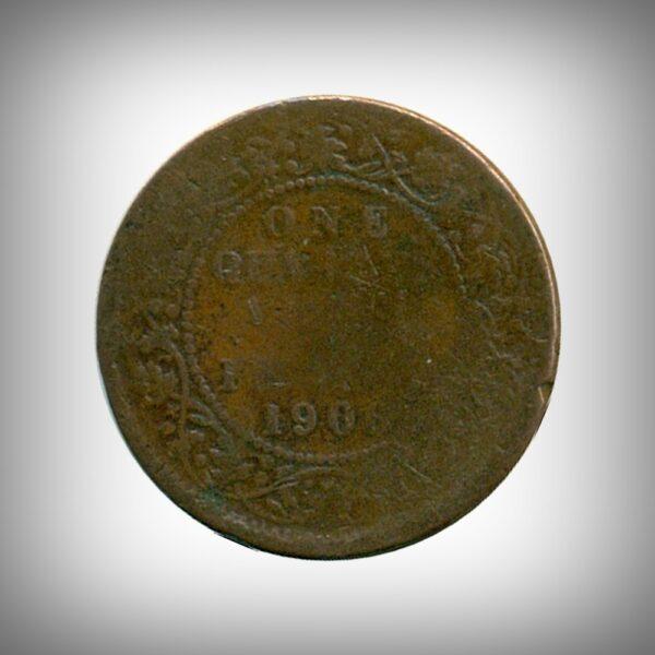 Edward VII One Quarter Anna 1906 Calcutta Mint R