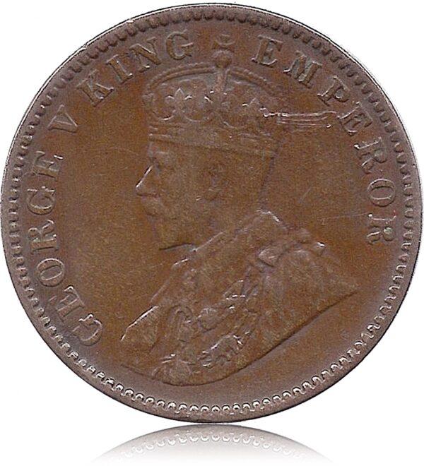 George V King Emperor One Quarter Anna 1935 Calcutta Mint O