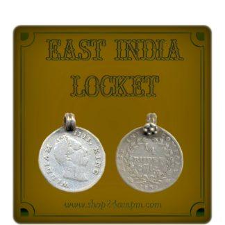 1835 1/4 Quarter Rupee King William East India Locket Coin