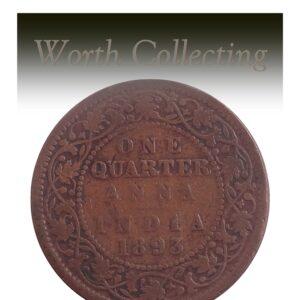 1893 1/4 Quarter Anna British India Queen Victoria