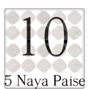 1957 1963 1964 5 Paise Republic India Coins