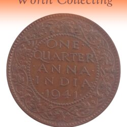 1941  1/4 Quarter Anna Coin British India King George VI