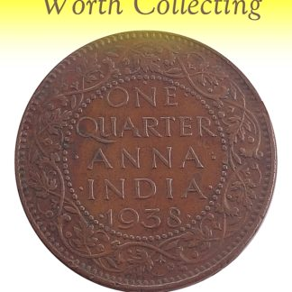 1938  1/4 Quarter Anna Coin British India King George VI