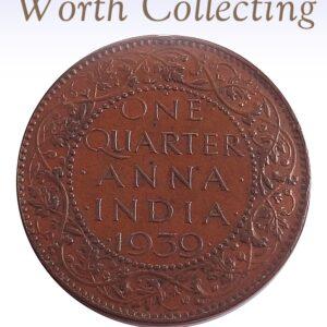 1939 1/4 Quarter Anna British India King George VI