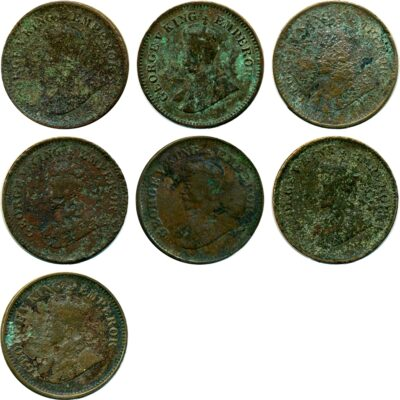 1/2 Half Pice Coins Mixed Lot British India King George VO