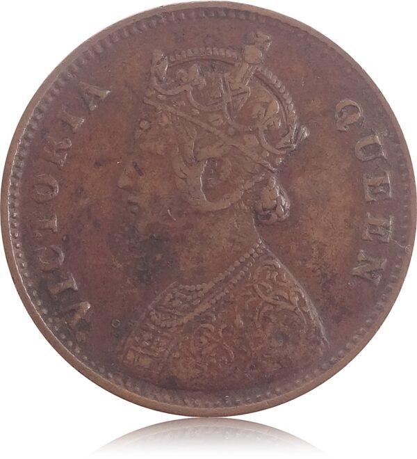 1862 1/4 Quarter Anna British India King Queen Victoria O