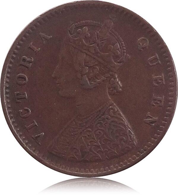 1876 1/12 Twelve Anna British India Queen VictoriaO