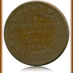 One Quarter Anna 1906 King Edward VII Calcutta Mint