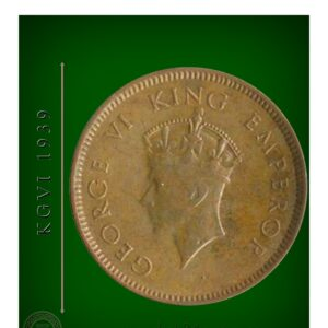 1939 1/4 Quarter Anna British India King George VI