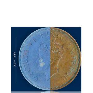 1940 1/4 Quarter Anna British India King George VI
