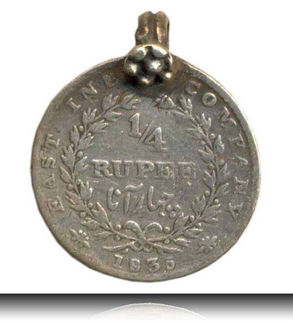 1835 1/4 Quarter Rupee King William East India Locket Coin R