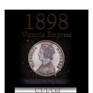 1898 1 Rupee Sliver Coin - Queen Victoria Empress