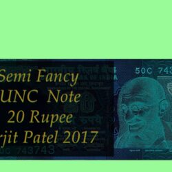 Semi Fancy Note E-50C 743743 20 Rupee Note Sign by Urjit Patel 2017
