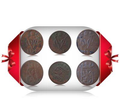 VOC 1734 1735 1736 Set of 3 Coins