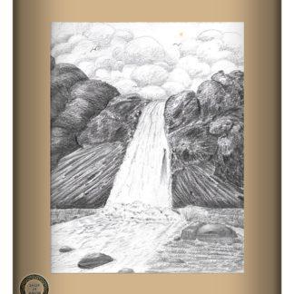 Waterfall Pencil Art Work