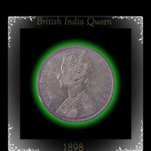 1898 Queen 1 Rupee Sliver Coin - Victoria Empress