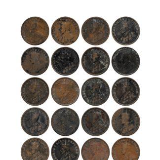 1913 1914 1917 1918 1919 1/4 Quarter Anna British India King George V