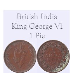 1941 1 By 12 Anna King George VI pie Worth Collecting