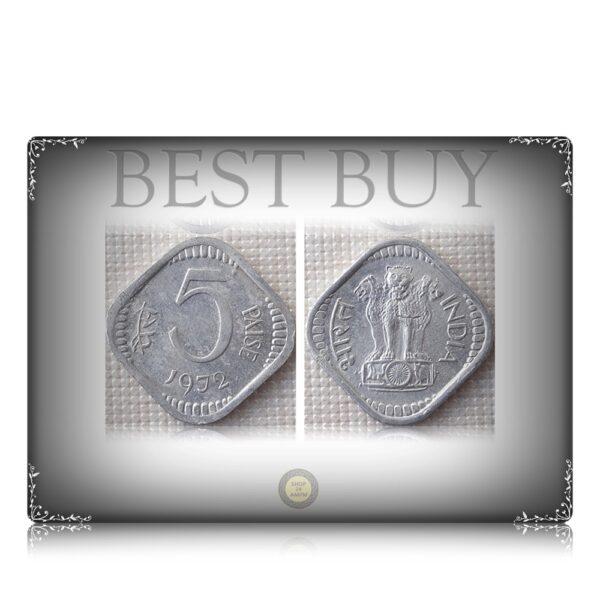 1972 5 paise Calcutta Mint Best Buy Value Coin