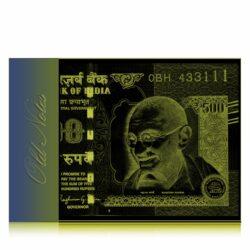 2015 Old 500 Rupee Fancy Number note sig by Raghuram Ji Rajan