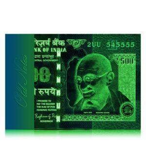 2015 Old 500 Rupee Note with fancy number 2UU 545555 E Inset Sign By Raghuram Ji Rajan Best Buy