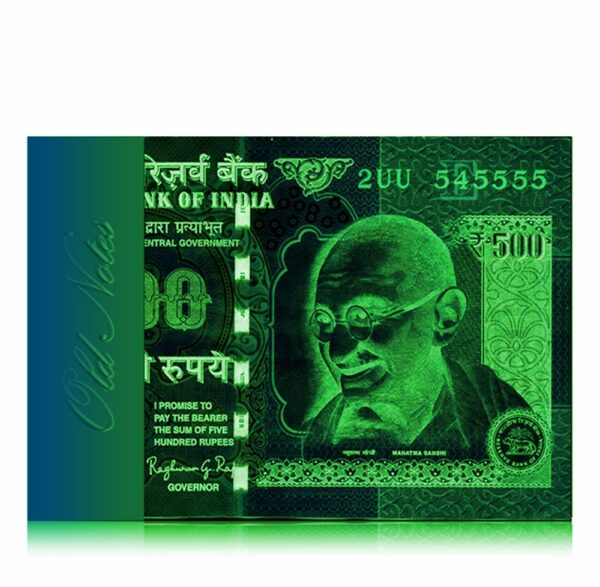 2015 Old 500 Rupee Note with fancy number 2UU 545555 E Inset Sign By Raghuram Ji Rajan Best Buy