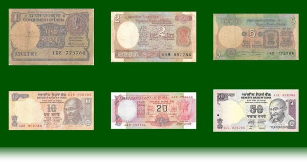 786 Lucky Number Rupee Notes - Worth Collecting 6 nos on shop24ampm.com O