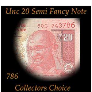 786 Semi Fancy Note sig by Urjit Patel 2017