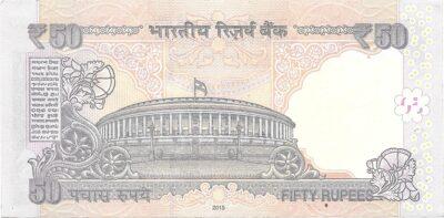 FTripple Ending UNC Note 50 Rupee UNC Note Sign by Raghuram G Rajan 2015 R