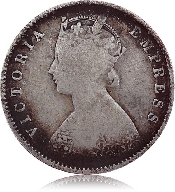 Half Rupee 1887 Queen O