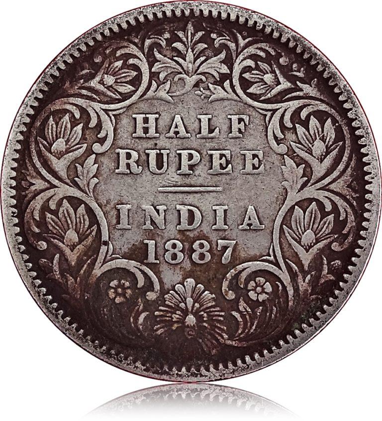 Half Rupee 1887 Queen R