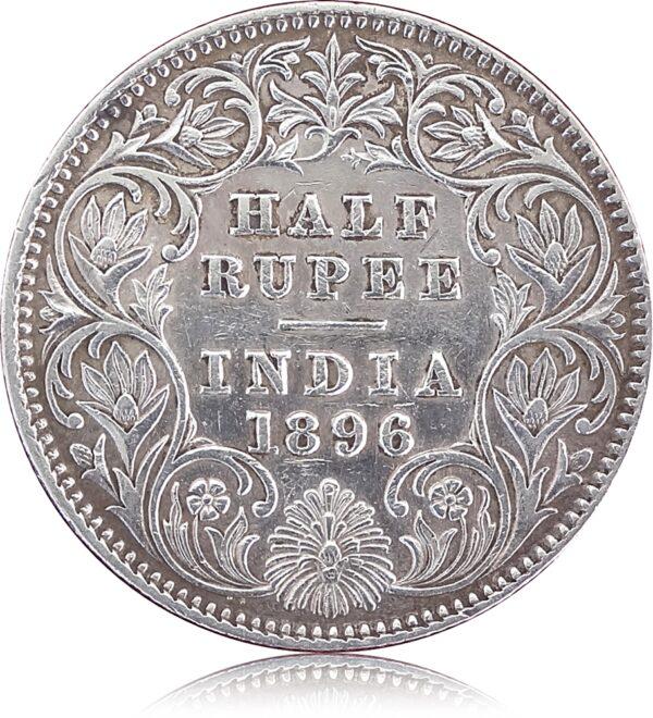 Half Rupee 1896 Queen r