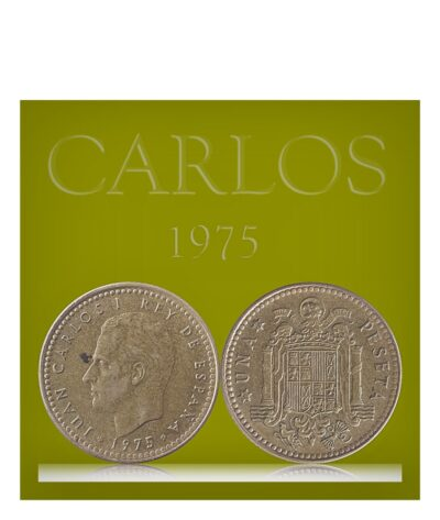 Spain 1 Peseta 1975 Juan Carlos I Coat of arms of Spain Europe Coin
