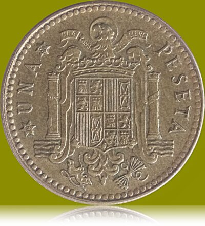 Spain 1 Peseta 1975 Juan Carlos I Coat of arms of Spain Europe Coin R