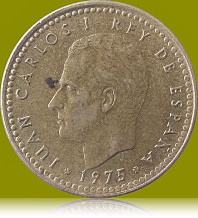 Spain 1 Peseta 1975 Juan Carlos I Coat of arms of Spain Europe Coin O