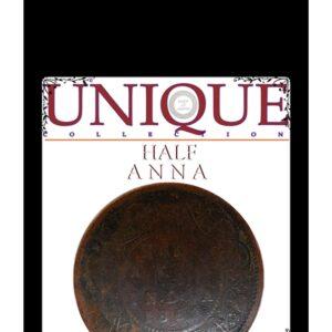 Unique Collection 1862 Half Anna