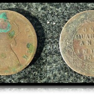 1874 1/4 Quarter Anna British India Queen Victoria