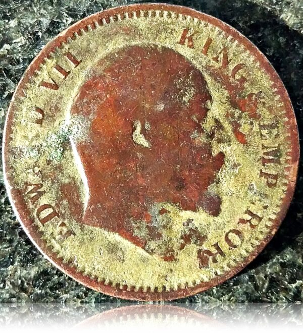 1905  1/4 Quarter Anna British India  King Edward VII O