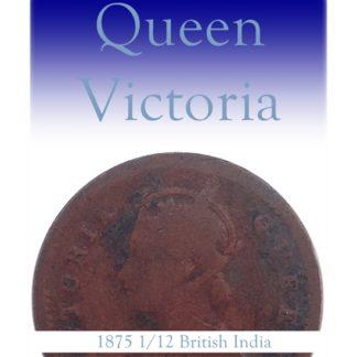 1875 1 PIE British India Queen Victoria