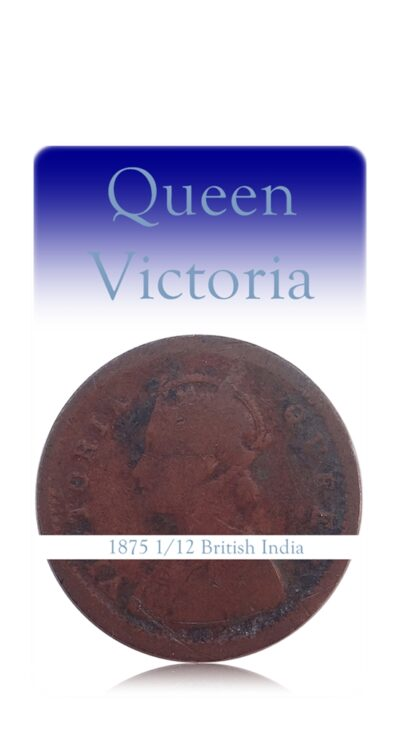 1875 1 PIE British India Queen Victoria