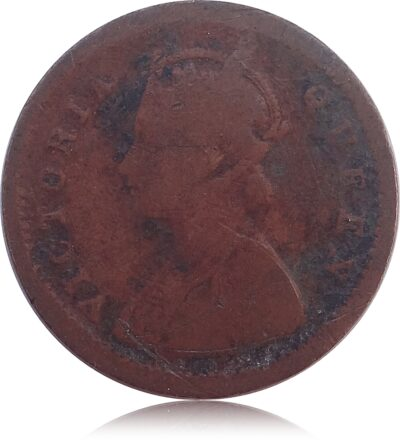 1875 1 PIE British India Queen Victoria(O)