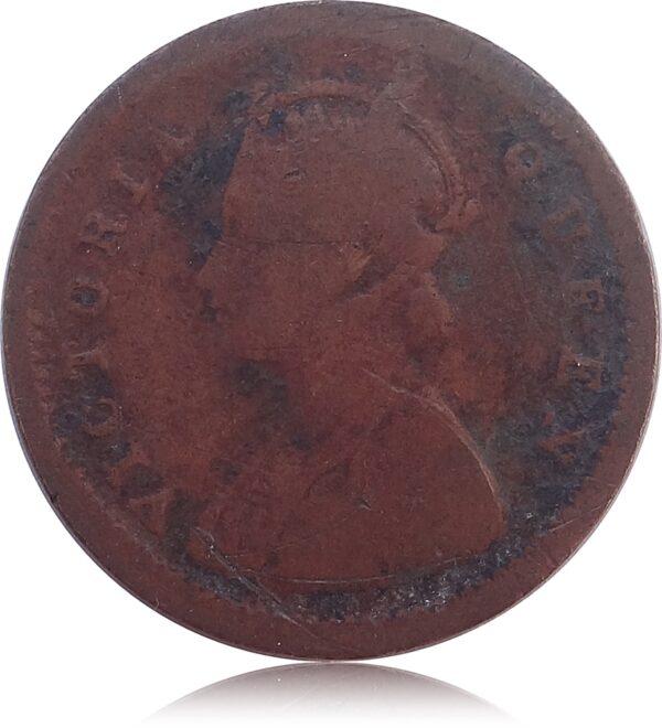1875 1 PIE British India Queen Victoria(O)