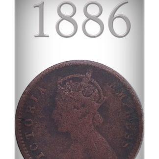 1886 One Twelve Anna Queen Victoria Empress