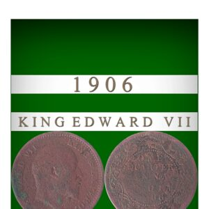 1906 Quarter Anna King Edward VII Bronze metal