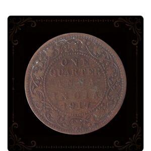 1917 Quarter Anna King G V British India Best Online Value Buy