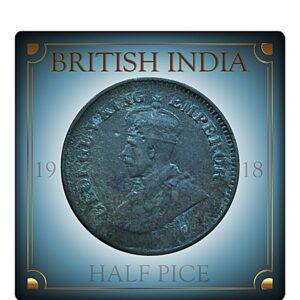 1918 Half Pice King George V Rare Best Found